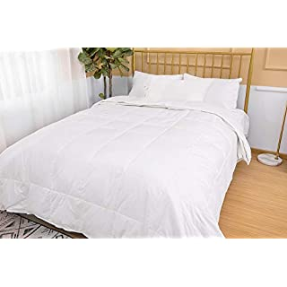 D & G The DUCK & GOOSE CO Luxury Down and Feather Comforter Duvet, Warm and Lightweight for All Seasons,Hotel Quality Down Duvet-4.5Tog and 9Tog-Doubles, Cotton Cover-220x230CM for All Seasons