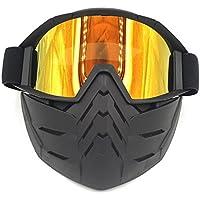 Motocicleta Gafas, spohife resistente al viento moto off-road gafas de equitación mit máscara para casco Open Face, Red lens