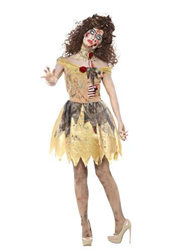 Goldenes Märchen Kostüm, Kleid mit angebrachten Latex Rippen, Haarband und enger Halskragen, Größe: 44-46, 46861 ()