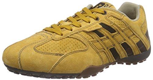 Geox UOMO SNAKE K, Sneakers basses homme Jaune - Gelb (BISCUITC5046)
