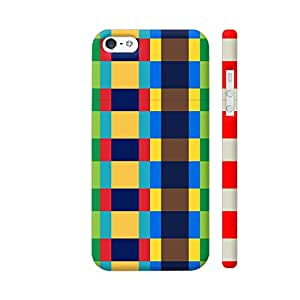 Colorpur iPhone SE Cover - Multi Colored Pixel Box Printed Back Case