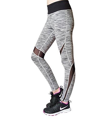 DEUCE SPORTS POWERSWITCH Grau Damen Sporthose Yoga Fitness Gym Laufen Jogging Tennis Squash Hockey Leggings Stretch-hose