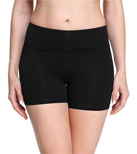 Merry Style Damen Shorts Radlerhose Unterhose Hotpants Kurze Hose Boxershorts aus Viskose MS10-284 (Schwarz(Shorts), XS)