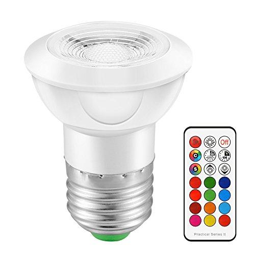 Dire-wolves LED-Leuchten|Beleuchtung zu Hause|Scheinwerfer|Intelligente Glühbirne|Dekorative Lichter des Hotels|Wandleuchte|Tischleuchte|Schienenlicht|Infrarot-Fernbedienung|RGB mit Zeitspeicher (02) (Dekorative Beleuchtung Mit Leuchtstofflampen)