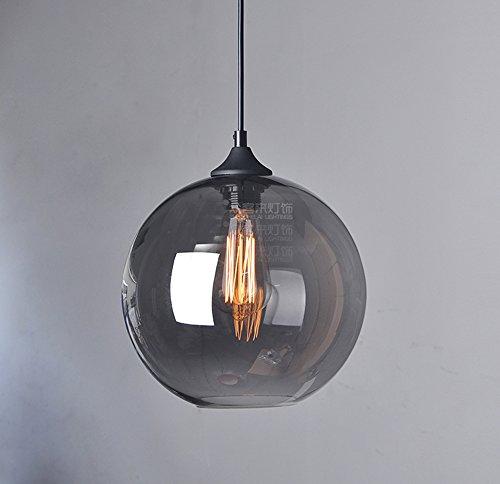 Modern Pendelleuchte Esstisch Hängeleuchte Glas Pendellampe E27 Hängelampe Grau Esszimmerlampe Höhenverstellbar für Esszimmer Wohnzimmer Schlafzimmer