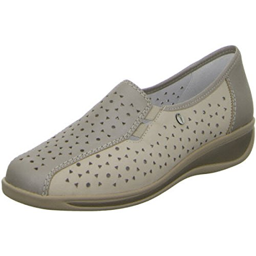 ARA Damen Slipper Komfort Slipper Halbschuh extra weit Meran 36386-08 beige 132543 (Damen-komfort-slipper)