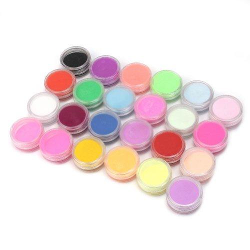 Chic 24 couleurs sélection poudre acrílicos manucure Art d'ongle Décoration