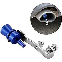 ONEVER Turbo Sound Whistle, silenciador de escape de aluminio universal Pipe Car Blow Off Valve