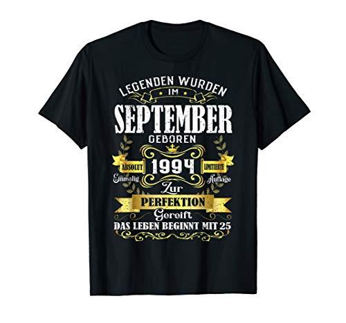 Geschenk zum 25. Geburtstag Jahrgang 1994 September T Shirt -