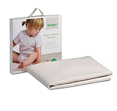 The Little Green Sheep Organic Waterproof Cot Bed Mattress Protector (70x140cm)