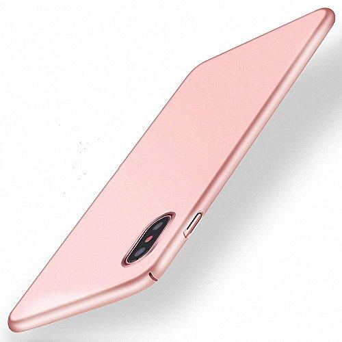 NAVT Xiaomi Mi Mix 2S Funda,Ultrafino Estructura Completamente rodeada la Estructura de Superficie Mate Durable PC Protector teléfono Funda para Xiaomi Mi Mix 2S Smartphone (Oro Rosa)