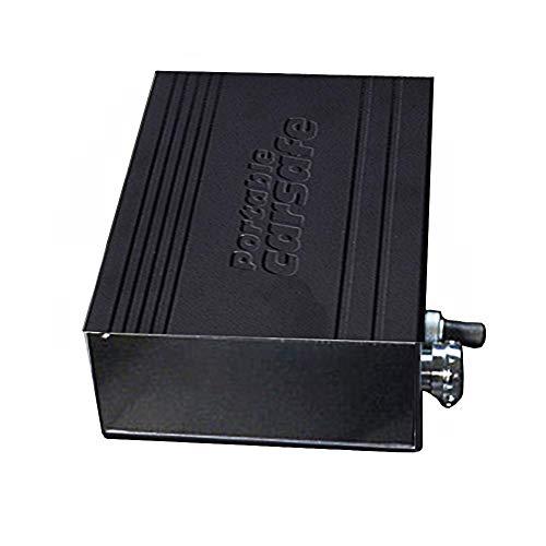 Auto Safe Box Geldkassette, tragbare Aluminiumlegierung Kombinationsschloss Sicherheit Box Diebstahlsicherung Stahl Schlüssel Safe für Auto nach Hause Schlafsaal Raum Urlaub