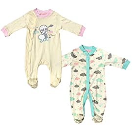 Paradise Baby Boys Girls 3 Pack Sleepsuits EX Store 100/% Cotton BABYGROWS 1-24m New