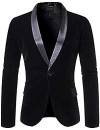 giacca casual nera con puntini gialli