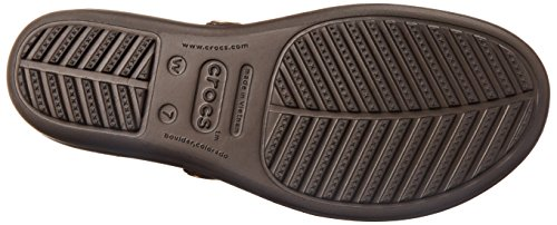 Crocs Sanrah Circle cuneo flip Espresso/Walnut