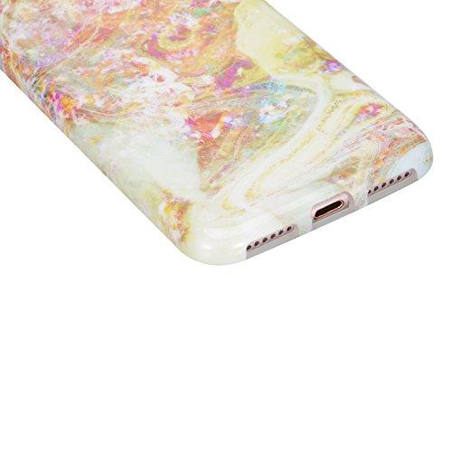 Für iPhone SE Hülle, für iPhone 5 Hülle, für iPhone 5S Hülle, Sunroyal Flexible Weich TPU Silikon Gel Ultra Slim Case Schutz Cover Kratzfeste Dauerhaft Schock-Beweis Bumper Etui Rundum-schutz Marmor H Pattern #3
