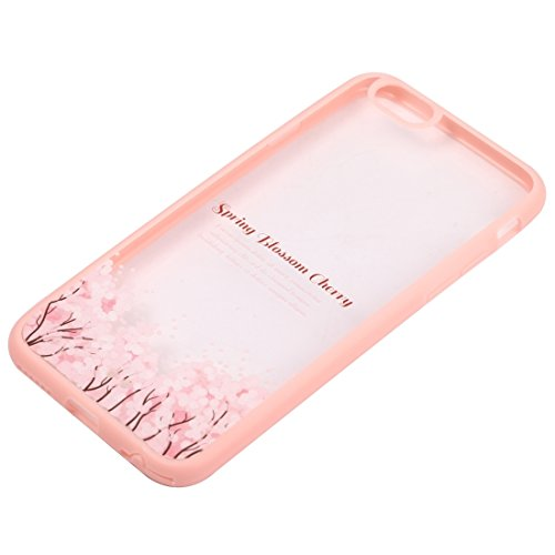 Wkae Case Cover Für iPhone 6 Plus &6s Plus-Kirschblüten-Blumen-Muster Transparente Kunststoff-Schutzhülle ( SKU : IP6P0968C ) IP6P0968J