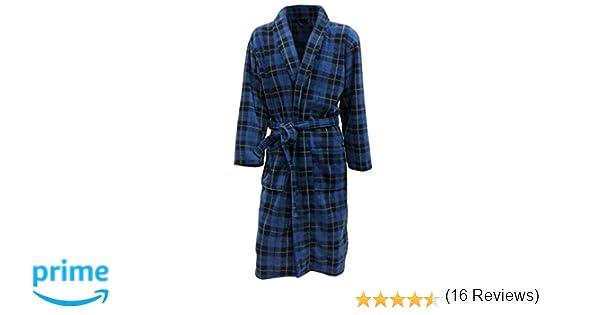 Vestaglia Da Camera Uomo : Vestaglia da camera con disegno scozzese a scacchi tartan blu