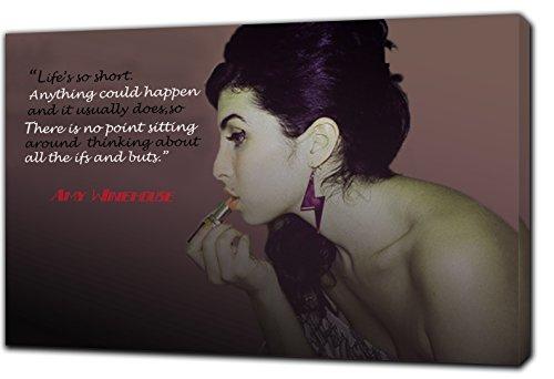 Amy Winehouse, mit Bild Druck gerahmt Leinwand Kunstdruck, 30 x 24 inch-38mm depth -
