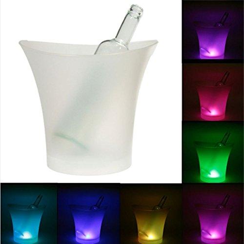 Cubitera con luz LED 7 Colores para enfriar botellas y decorar fiestas celebraciones Navidad de OPEN BUY