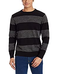 Nautica Mens Cotton Sweater (8907259495040_NTS536370TB_X-Large_Black)