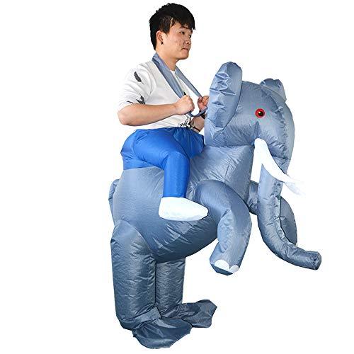 Erwachsene Elefanten Für Aufblasbare Kostüm - Weehey Erwachsene Elefant Aufblasbare Kostüm Prop Blow Up Aufblasbare Kostüm für Halloween Cosplay Dress Up Party Stage Performance