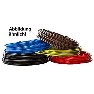 Aderleitung - Einzelader flexibel - PVC Leitung - H07V-K 1,5 mm² - Farbe: schwarz 10m/15m/20m/25m/30m/35m/40m/45m/50m/55m/60m bis 100 m frei wählbar