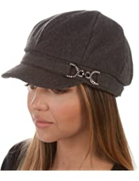 Sakkas Jessica Unisex Wool Newsboy Cabbie Hat