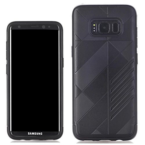 YHUISEN Galaxy S8 Case, 2 In 1 Rüstung Tough Style Hybrid Dual Layer Rüstung Defender PC + TPU Schutzhülle für Samsung Galaxy S8 ( Color : Black ) Black
