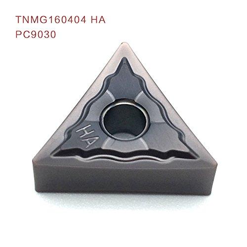 10pcs tnmg160404 ha pc9030 carbide insert für stahl aus rostfreiem stahl usw. gefestigt durch einfügen sclcr für allgemeine nc klingen