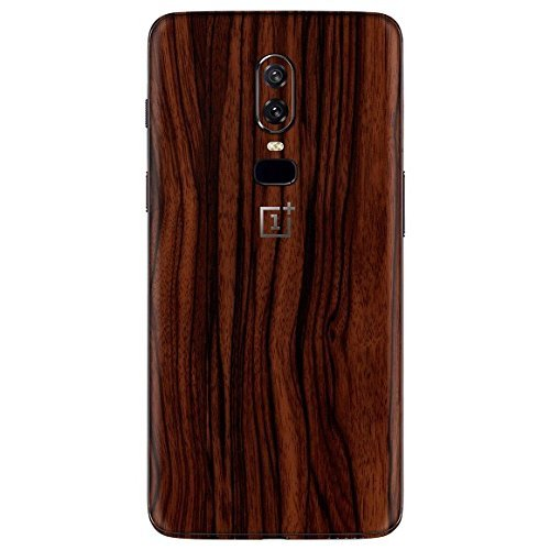 Gadgets Wrap -Co- Dark Wood Back Skin/Sticker – Wrap Matte High Strenght Stylish New Skin for One Plus 6 (Only Sticker Not Cover)