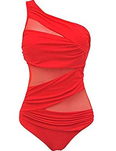 FeelinGirl Costume da Bagno Sexy Intero Costumi da Bagno da Donna Costume da Bagno Imbottito con Taglio Alto Indossato da Spiaggia Brasiliana