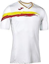 Joma Picasho - Camiseta de Manga Corta para Hombre, Color Blanco, Talla M