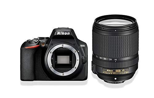 "Nikon D3500 Fotocamera Reflex Digitale con Obiettivo Nikkor AF-S 18/140VR, 24.2 Megapixel, LCD 3"", SD da 16 GB 300x Premium Lexar, Nero [Nital Card: 4 Anni di Garanzia]"