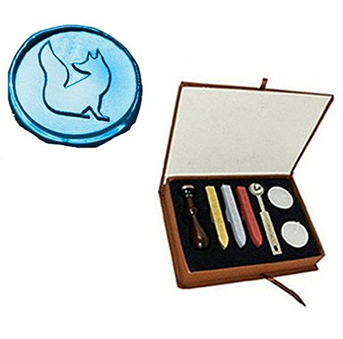 MDLG Vintage Fox Custom Bild Logo Hochzeit Einladung Wachssiegel fadensiegelung Stempel Set Kit Box Kit