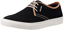 Provogue Mens Black and Tan Leather Sneakers - 7UK/India (41 EU) (8 US)