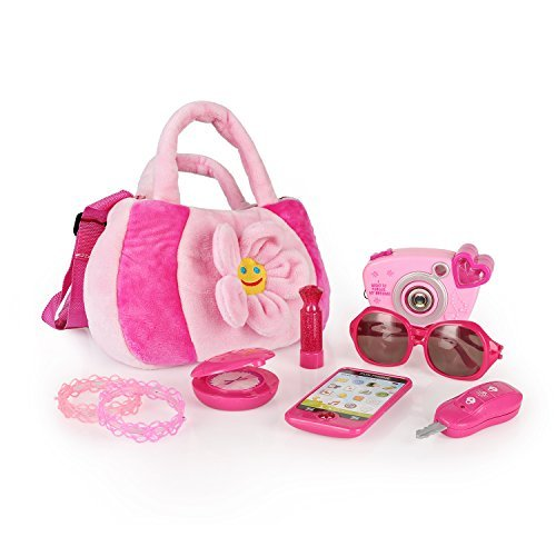 SainSmart Jr. Meine erste Tasche Kinderrollenspielzeug 8 Teilige , Hübsche Rollenspiel für Mädchen, Pädagogisches Spielzeug für Prinzessin