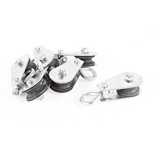 DealMux 0.03T 30kg Metall Hebekran Flaschenzug-Silber-Ton 6pcs