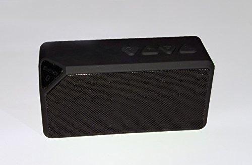 rubility® Mini Cube Wasser X3Tragbarer Lautsprecher Bluetooth Wireless Lautsprecher Bluetooth Speaker FM Radio mit Micro unterstützt USB/Micro SD/TF-Karte für iPhone iPad Samsung Smartphone–Schwarz