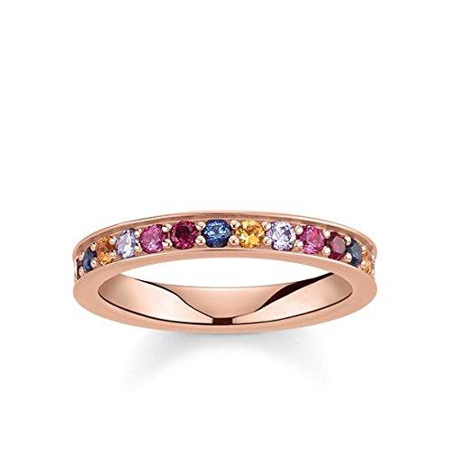 Thomas Sabo Damen-Ringe 925 Sterling Silber Künstliche Perle \'- Ringgröße 56 (17.8) TR2147-068-7-56