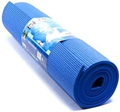 Luvbuddha Yoga Mat - 4 mm Thick - for Exercise, Home Gym, Meditation, Outdoor, Gym Mat for Women, Men, Kids (Size: 61 cm Wide × 173 cm Long) Color Blue/Pink