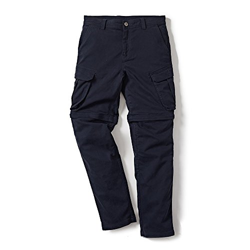 Royal Enfield RLATRH000012 TRAW17001 Re-Convertible Cargo Pants (Navy, XXXXL)