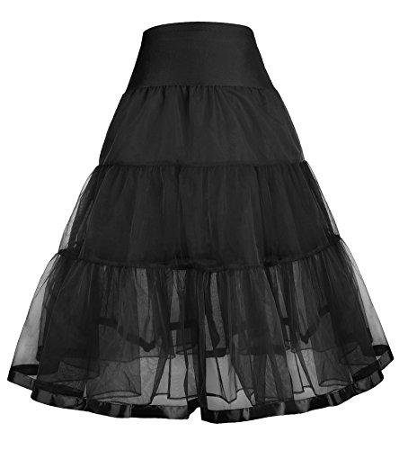 GRACE KARIN Vintage Maedchen 50er Rockabilly Petticoat Unterrock 7-9 Jahre CL10480-1