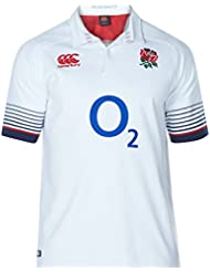 Canterbury England Official 17/18  Mens Short Sleeve Home Classic Jersey, Bright White