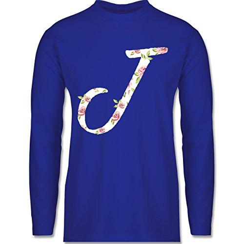 Shirtracer Anfangsbuchstaben - J Rosen - Herren Langarmshirt Royalblau