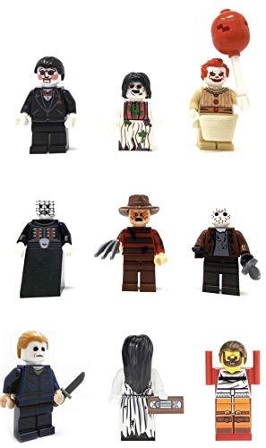 Modbrix 10 x Minifiguren Set Horror Allstars Freddy, Jason, Chucky und viele mehr