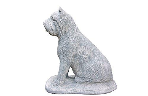 Steinfigur Bouvier des Flandres, Hund, Tierfigur aus Steinguss -