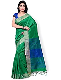 Fabattic Women's Raw Silk Saree With Blouse Piece (Chin15827F_Green)