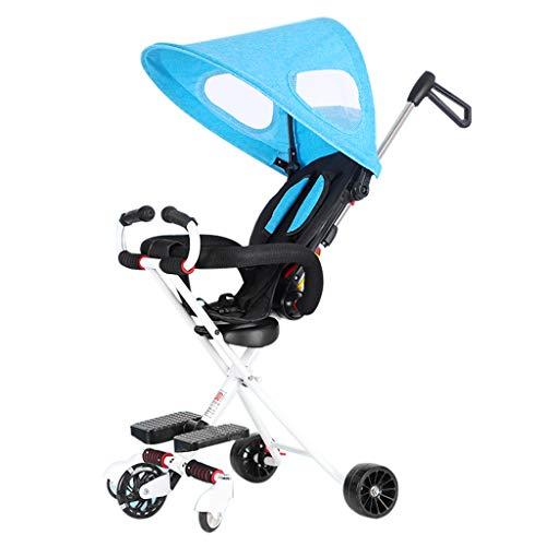 Baby carriage 4,5 kg Kinderleichter Kinderwagen - Tragbares 5 Rad Bugg Reise Joggy System - Einstellbare Markise / 3 Punkt Sicherheitsgurt/Hintere Doppelbremse, 78-88-93 cm