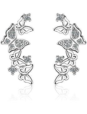 Silber Animal Schmetterling Ohr